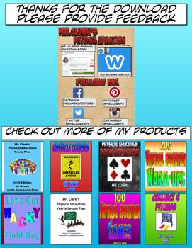 Physical Education Reward Cards 1