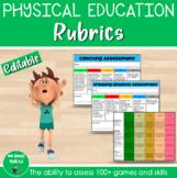 Physical Education Rubrics - Year 1-6