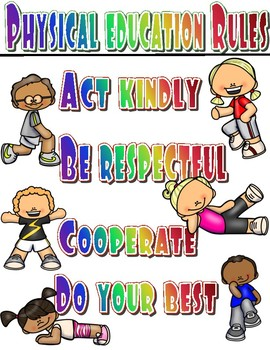 Physical Education Rules Poster Bundle