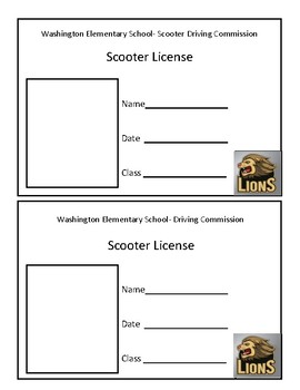 Physical Education Scooter License