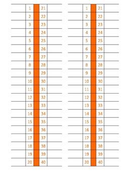 Physical Education Score Sheet