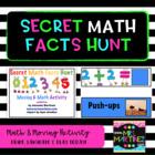 Physical Education: Secret Math Facts Hunt (Moving & Math