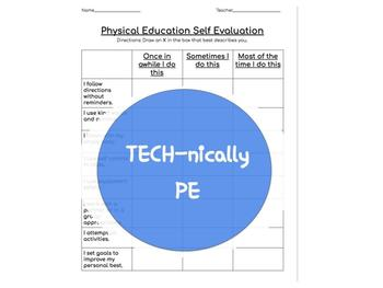 Physical Education Self Assessment