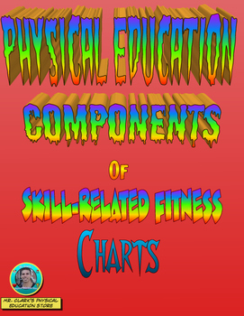 physical education skill related fitness charts tpt