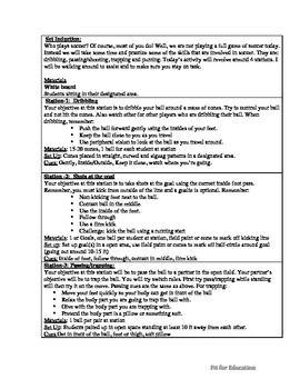 Physical Education- Soccer Stations