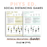 Physical Education Social Distancing Games BUNDLE! | Kindy - Year 6