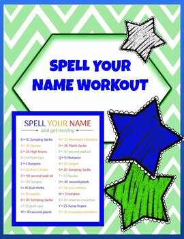 Physical Education - Spell Your Name Workout