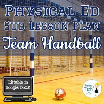 Physical Education Sub Lesson Plan - Team Handball