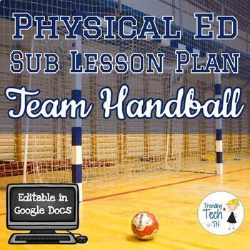 Physical Education Sub Lesson Plan - Team Handball