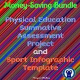 Physical Education Summative Assessment/Sport Infographic Temple Bundle