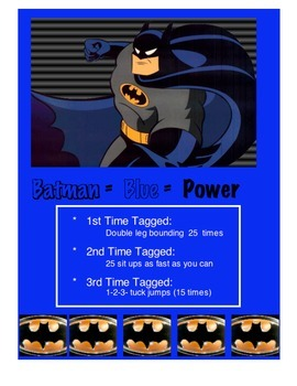 Physical Education:  Super Heroes Fitness Tag