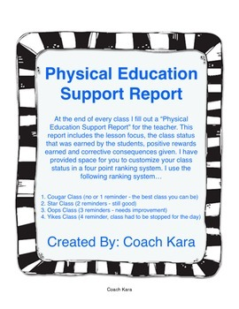 Physical Education Support Report (GPE & APE)