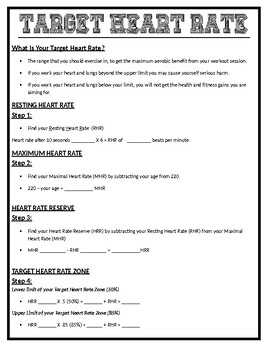 Physical Education: Target Heart Rate & Goal Setting (SMART)