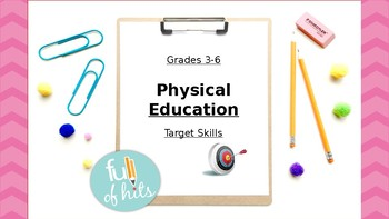 Physical Education - Target skills