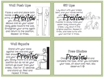 Physical Education Task Cards