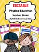 Physical Education Teacher Binder