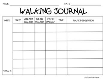 Physical Education:  Walking Journal