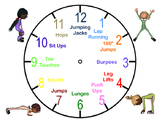 Physical Education Warm Up: Clock Warm Up - Movement