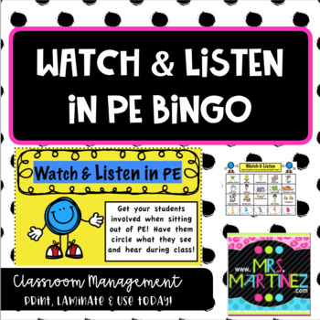 Physical Education: Watch and Listen Worksheet