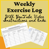 Physical Education Weekly Exercise Log + Video - At Home D