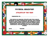 Physical Education Weekly, Monthly, Yearly Awards