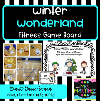 Physical Education: Winter Wonderland Fitness Board
