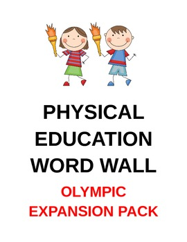 Physical Education Word Wall Olympic Expansion Pack