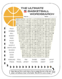 Basketball Wordsearch (Physical Education)