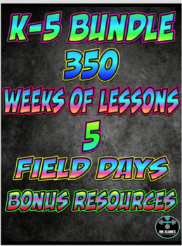 Physical Education Yearly Plan Ultimate Curriculum K-5 Full Editions Bundled