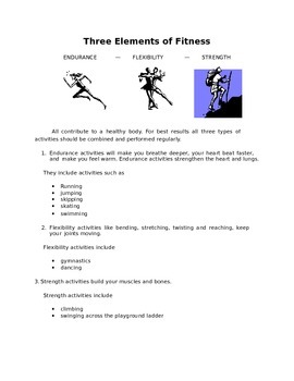 Physical Education workbook for 2nd grade