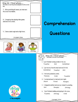 Physical Emotions Activity Packet {Low Prep}