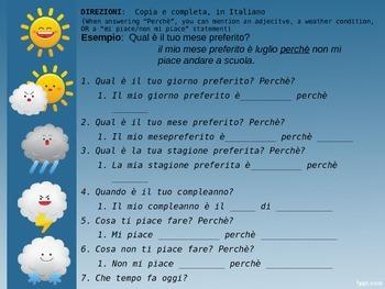 Physical Environment Skit--in Italiano