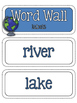 Geography: Landforms and Bodies of Water Word Wall and Vocabulary Builder