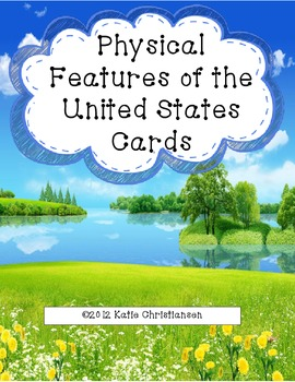 Physical Features and Landforms of the United States Cards