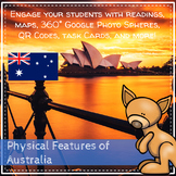 Physical Features of Australia: Readings, Photo Spheres, and Activity Workbook