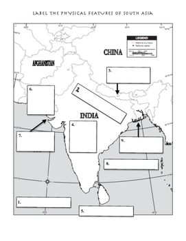 Physical Features of Central and South Asia