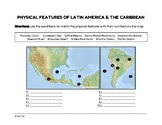 FREEBIE: Physical Features of Latin America & the Caribbea