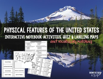 Physical Features of the United States Activities