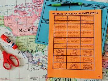Physical Features of the United States {Interactive Notebook Sort}
