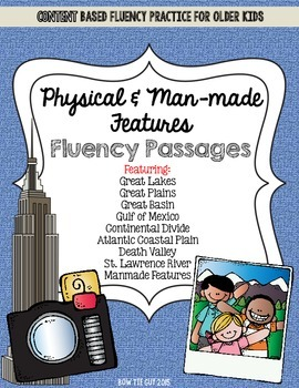 Physical Features of the United States and Manmade Features Fluency Passages