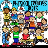 Physical Feelings Boys Clip Art Set - Chirp Graphics