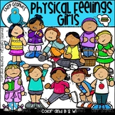 Physical Feelings Girls Clip Art Set - Chirp Graphics