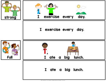 Physical Feelings- Sight Word Sentence to Picture Match (PreK-2/SPED/ELL)