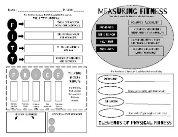 Physical Fitness Notes Handout