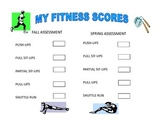 Physical Fitness Score Sheets