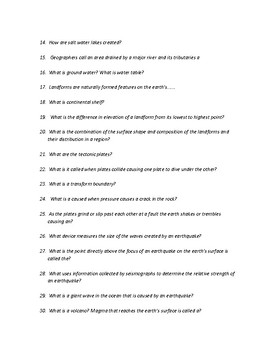 Physical Geography A living Planet Study Guide