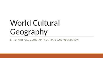 Physical Geography Climate and Vegetation