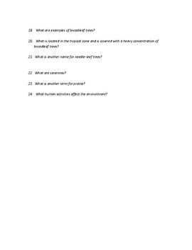 Physical Geography Climate and Vegetation Study Guide