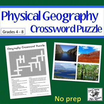 Physical Geography Crossword Puzzle with Answer Key