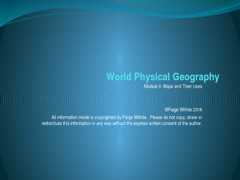 Maps and their Uses Physical Geography Earth Sciences Power Point Presentation